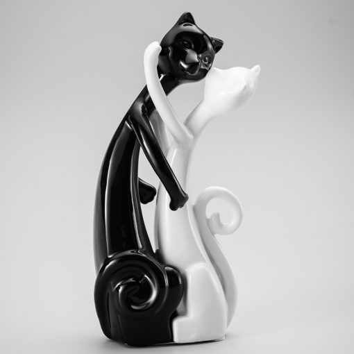seramik kedi salon aksesuarı